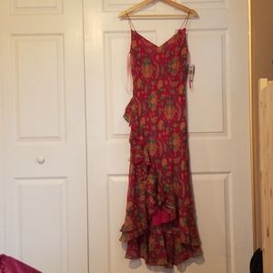 NWT ralph lauren paisley silk dress